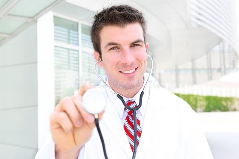Download Handsome Doctor At Hospital Stock Image - Image: 14485367