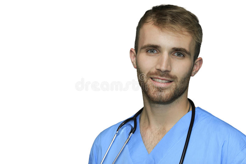 Handsome doctor isolated royalty free stock photos