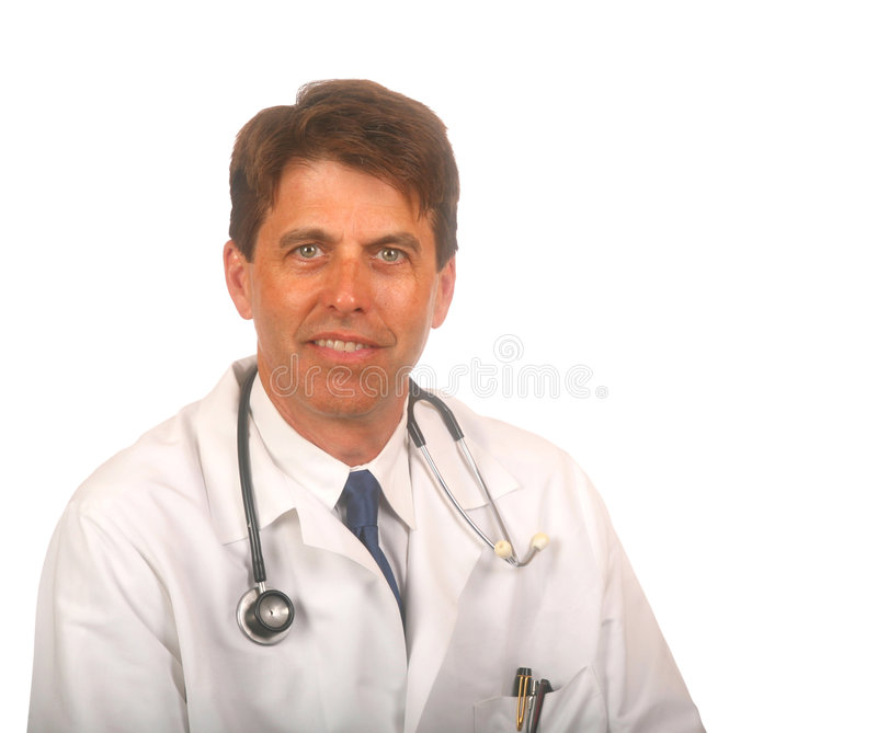 Handsome Doctor with Stethoscope stock photography
