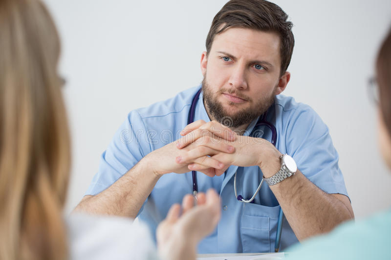 Handsome doctor royalty free stock photos