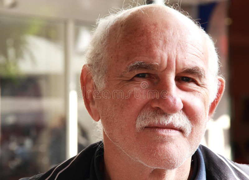 Handsome elderly man royalty free stock photography