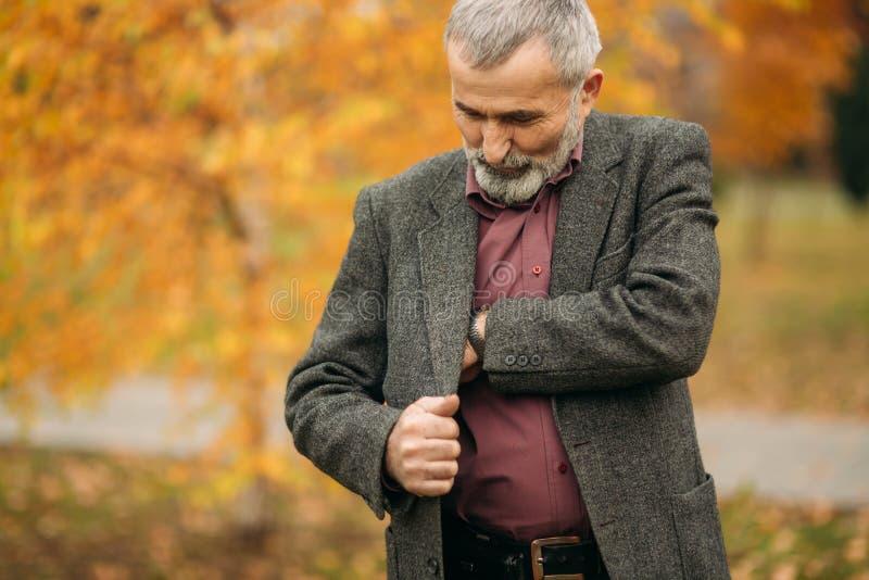A handsome elderly man stock images