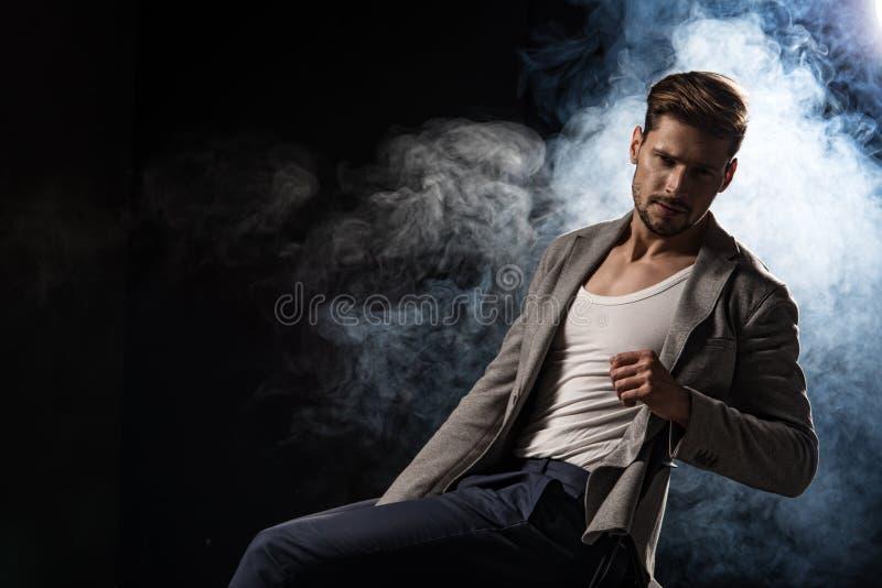Handsome elegant man royalty free stock photography