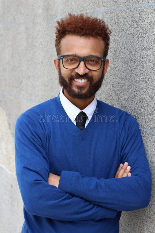 Handsome entrepreneur with arms crossed.  stock photos