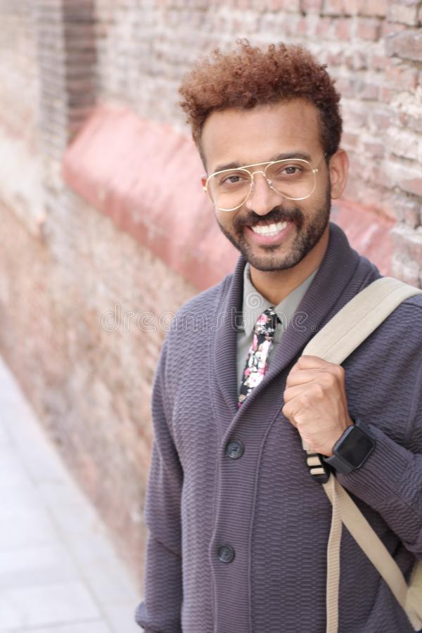 Handsome entrepreneur with trendy look.  stock image