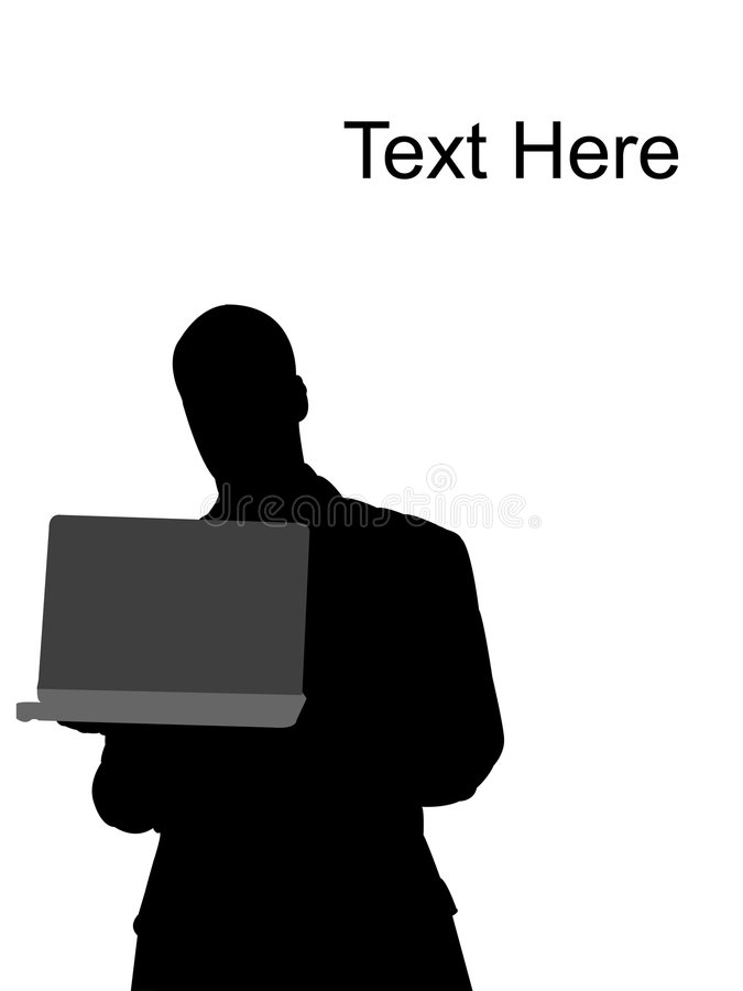 Download Handsome Executive Standing With Laptop Stock Illustration - Image: 7057909