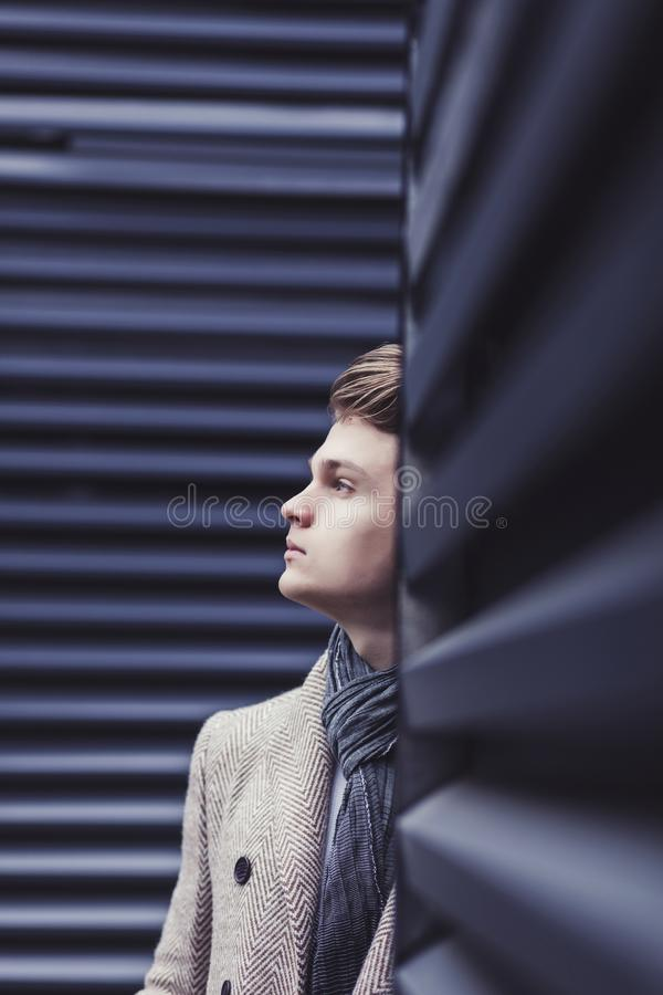 Handsome fashion male model stock images