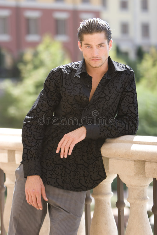 Handsome fashionable man stock photography