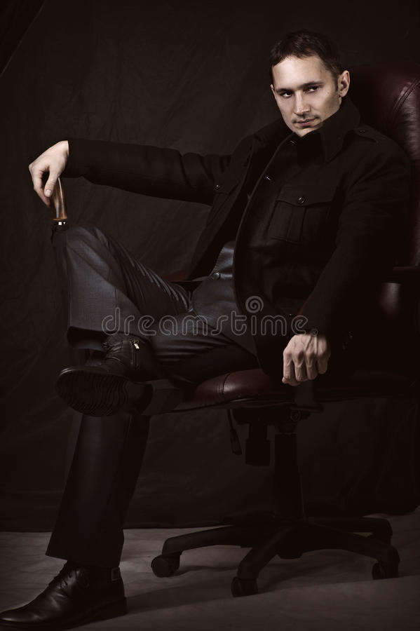 Download Handsome Fashionable Man In Coat And Suit Stock Image - Image: 23336159