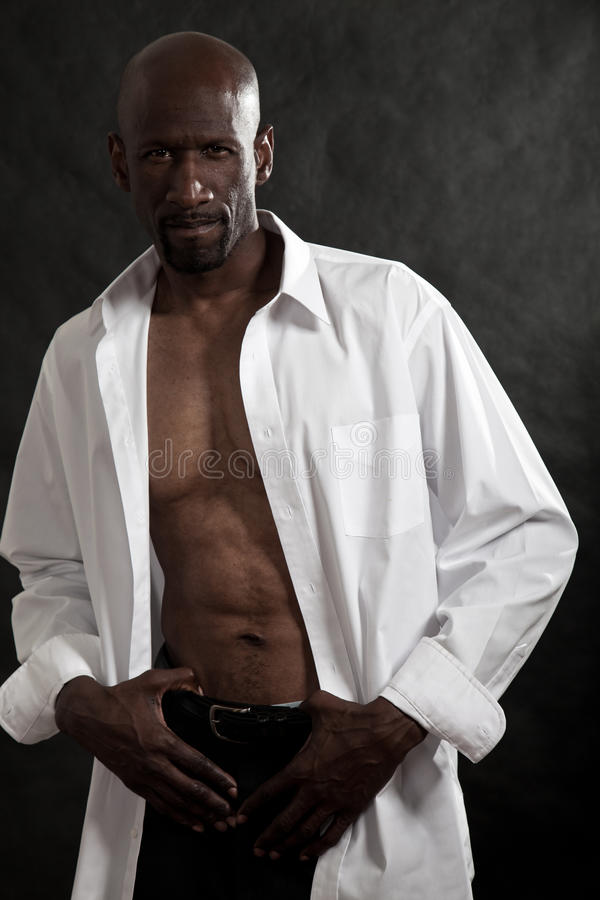 Handsome Forties Black Man Royalty Free Stock Image
