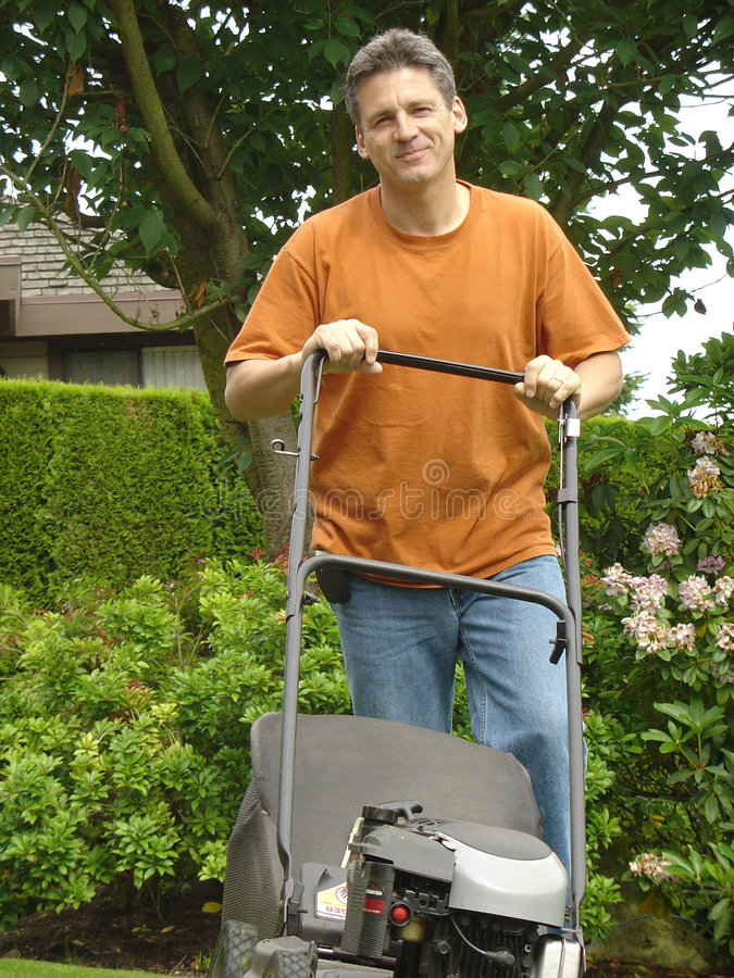 Download Handsome gardener stock image. Image of clean, friend, lawn - 626247