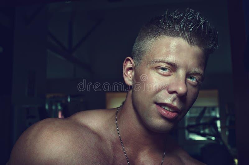 Handsome guy. Bodybuilder. Portrait of a handsome guy. Bodybuilder stock images