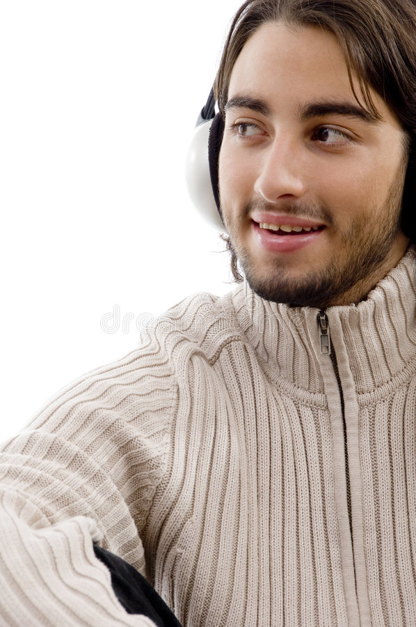 Download Handsome Guy Entertaining With Music Stock Photo - Image: 7364124