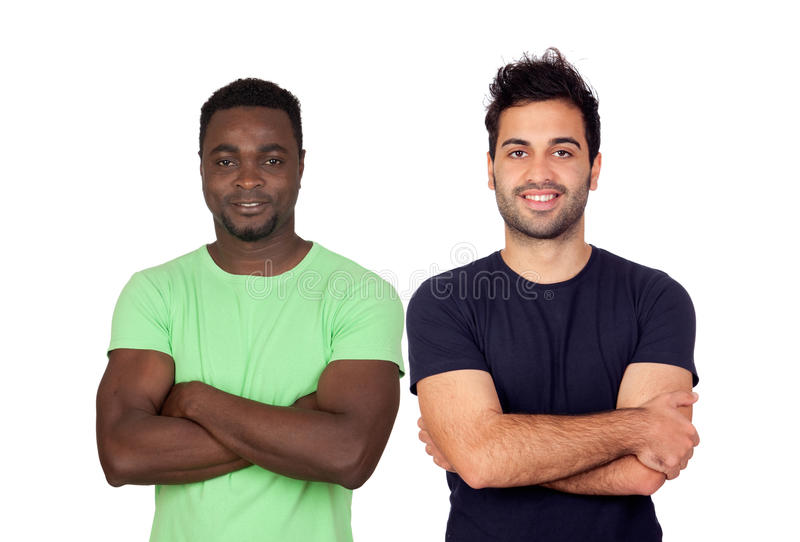 Handsome guys royalty free stock image