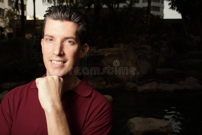 Handsome headshot royalty free stock photo