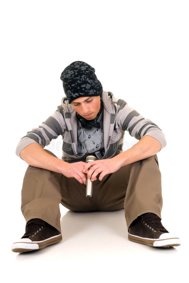 Handsome hip hop youngster royalty free stock photography