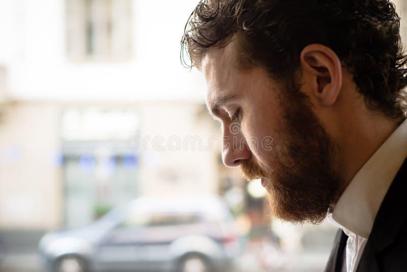 Handsome hipster elegant man stock image