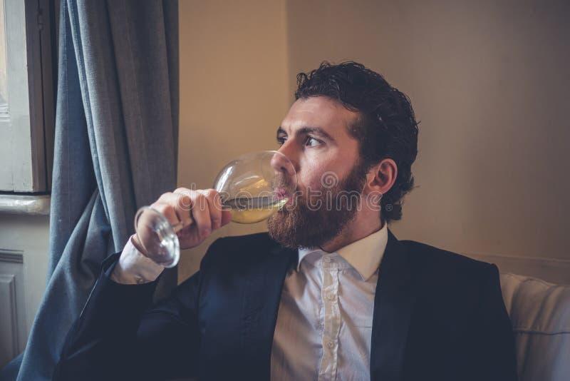 Handsome hipster elegant man royalty free stock photo