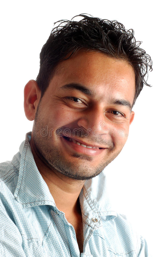 Handsome indian boy. Smile see the camera stock images