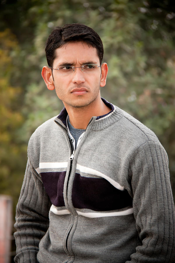 Handsome Indian man stock photo. Image of simple, emotions - 18399420