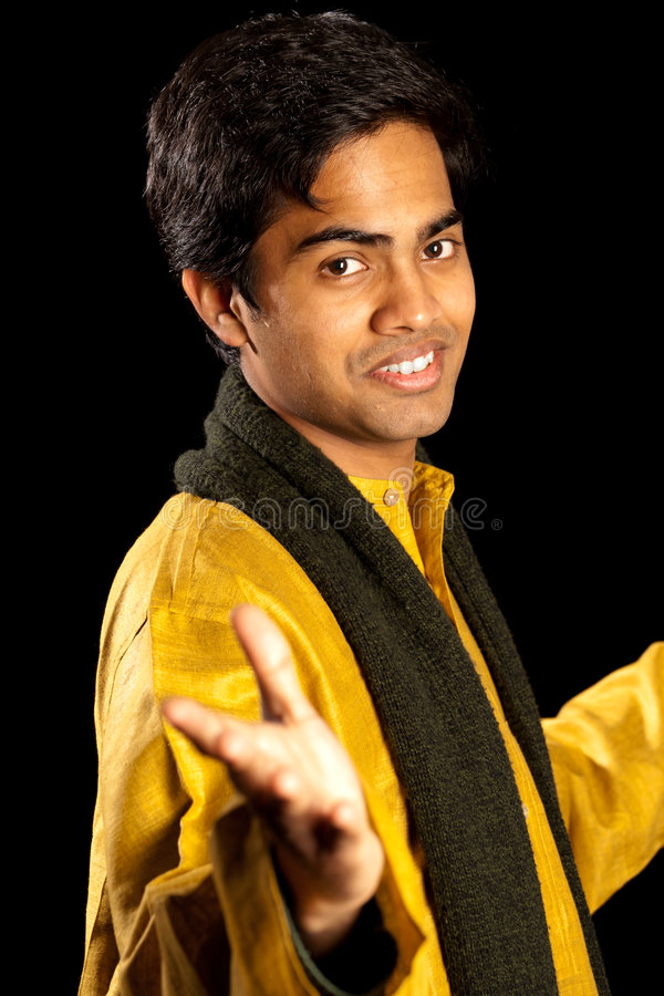 Handsome indian man royalty free stock photos