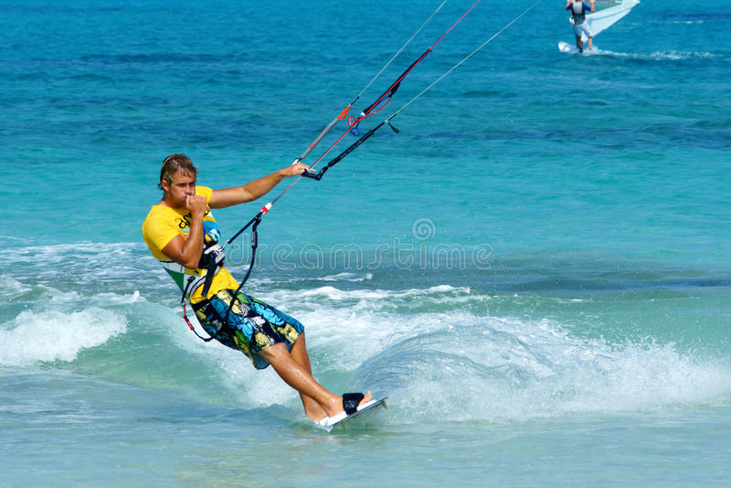Download Handsome kitesurfer editorial stock photo. Image of board - 15854623