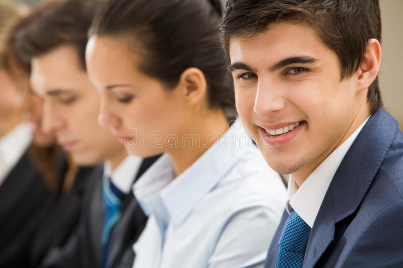 Handsome leader stock photography