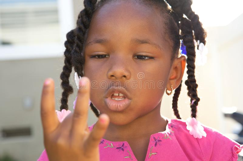 A Handsome little African American royalty free stock image