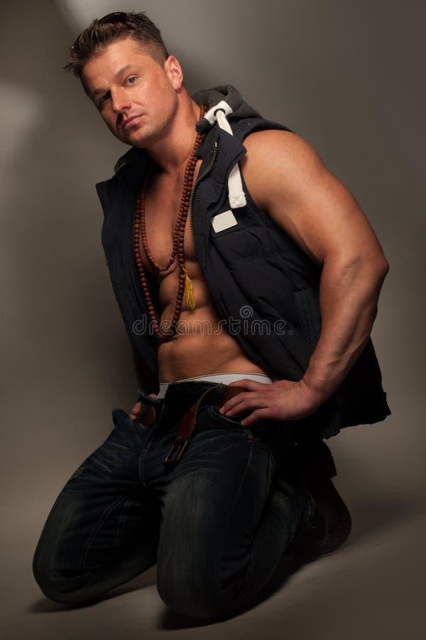 Handsome macho man stock photography