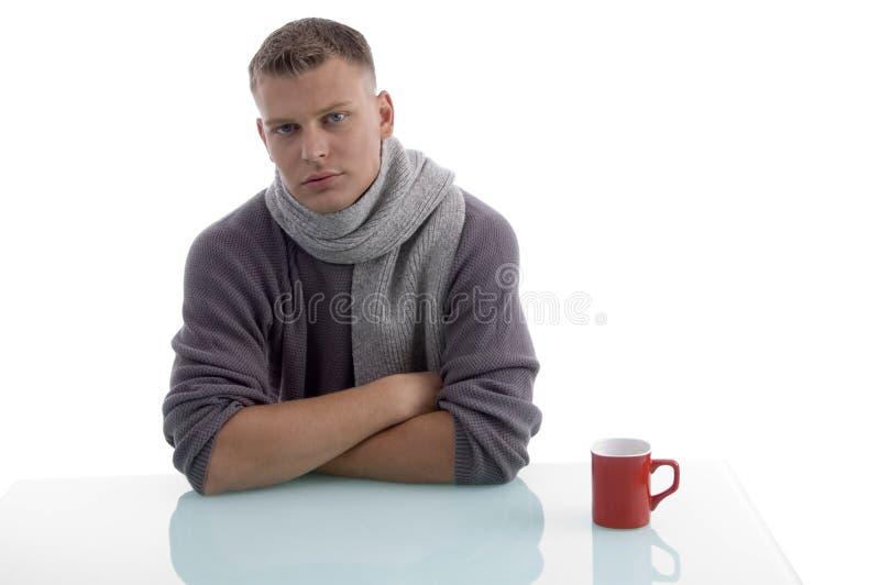 Handsome male with coffee mug