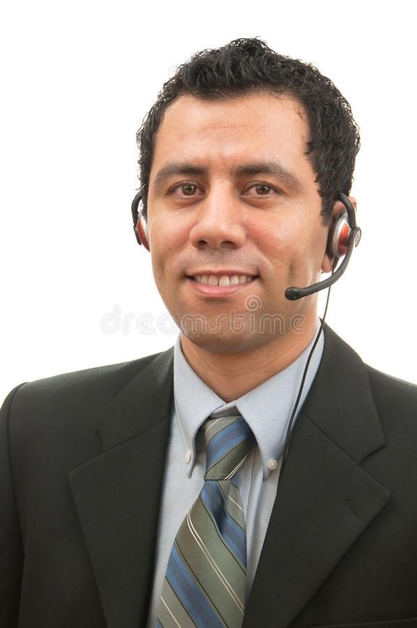 Handsome Male Customer Service royalty free stock images
