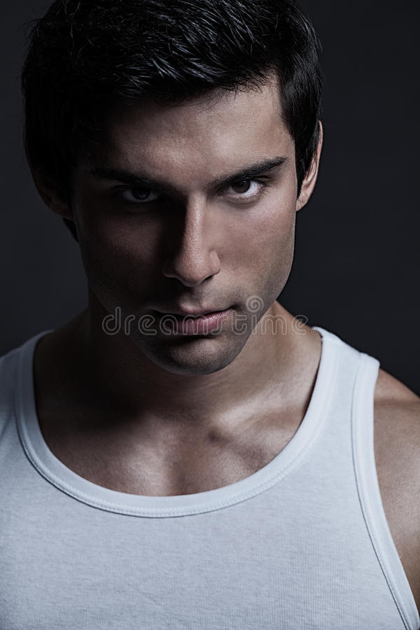 Handsome Male Model Portrait royalty free stock images