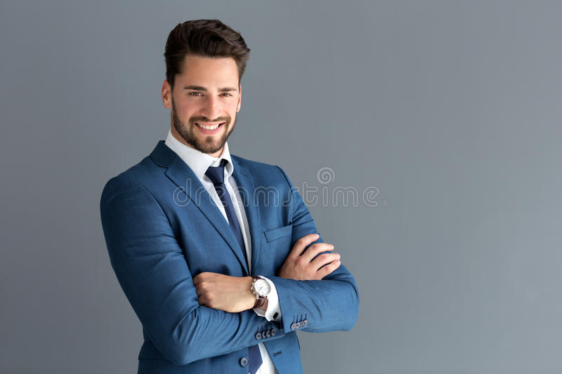 Handsome male model posing royalty free stock photography