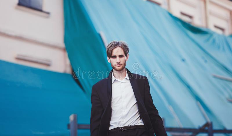 Handsome male model stock photos