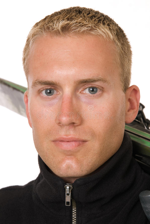 Handsome Male Skier stock photo