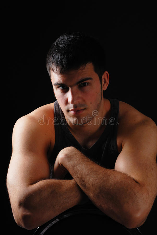 Download Handsome man stock photo. Image of black, exercising - 13952534