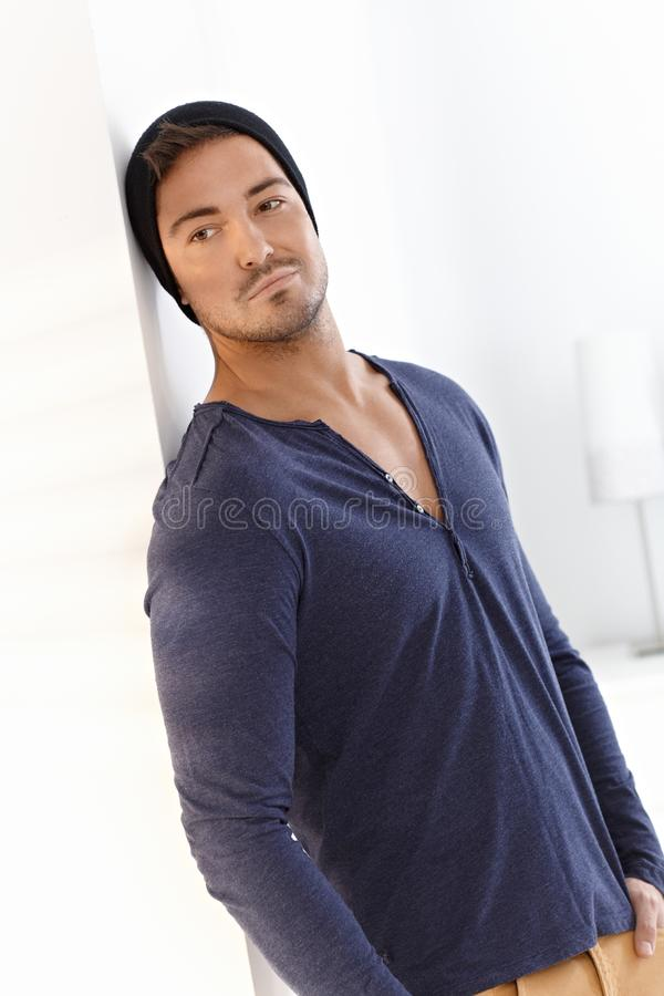 Handsome Man In Cap Stock Photography