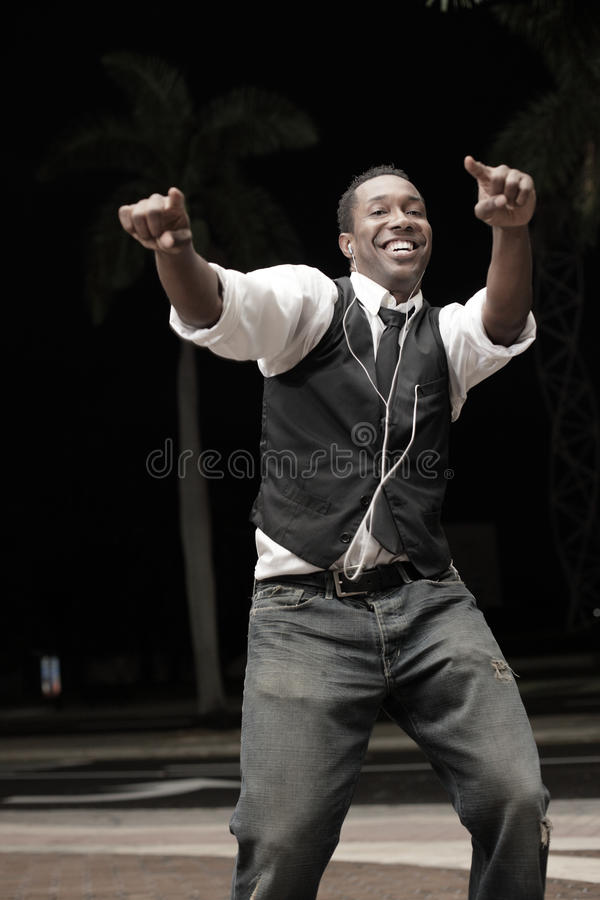 Handsome man dancing royalty free stock images