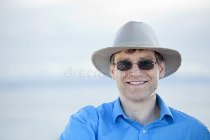 Download Handsome Man In Early Forties, Blue Background Royalty Free Stock Photo - Image: 27399975