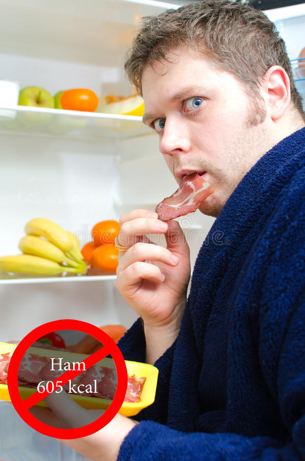 Download Handsome man eating ham stock photo. Image of fresh, calories - 29091326