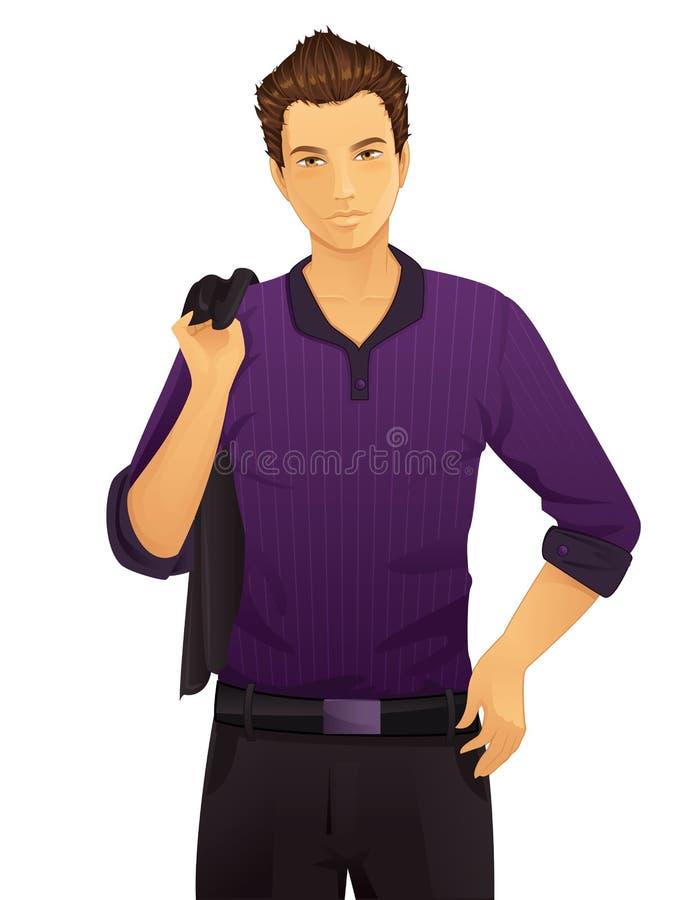 Handsome man stock illustration