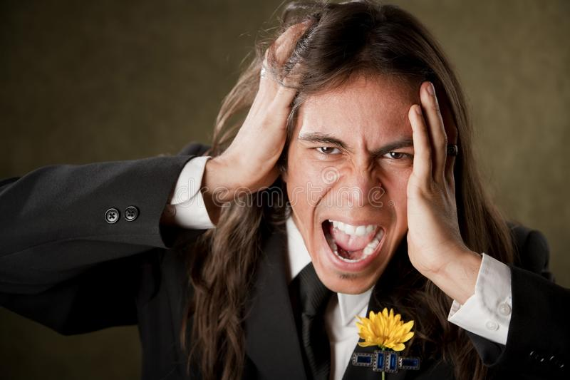 Download Handsome Man In Formalwear Screaming Stock Photo - Image: 8911422