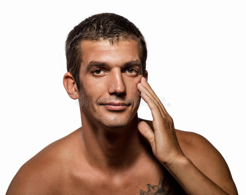 Handsome man with health clean skin royalty free stock images