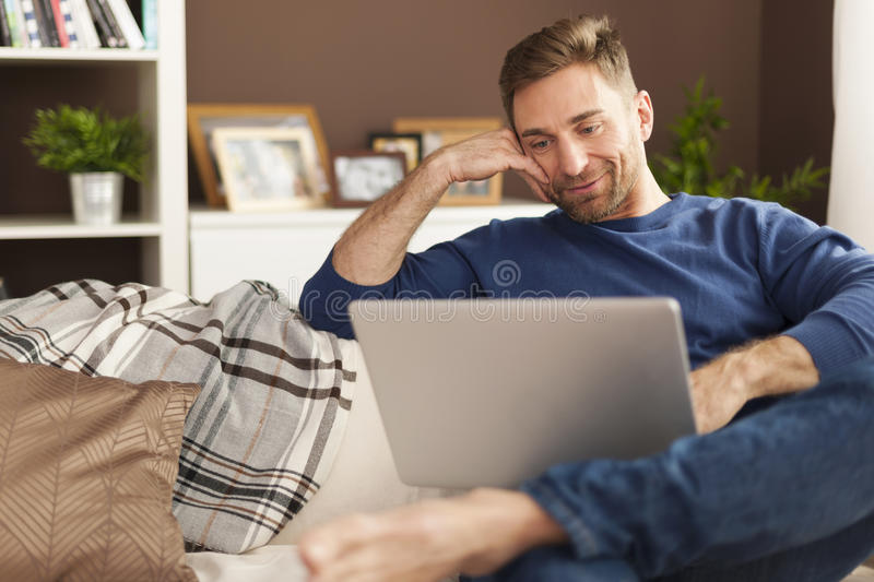 Download Handsome Man At Home Stock Photo - Image: 39857469