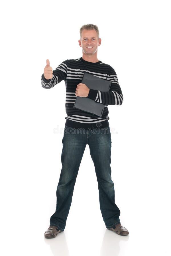 Download Handsome man laptop stock image. Image of business, vest - 11193259