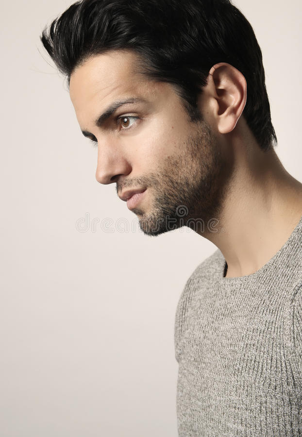 Handsome man looking at his side royalty free stock photo