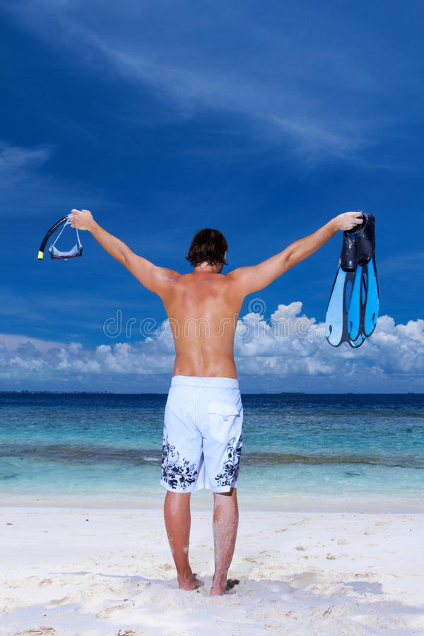 Download Handsome Man at Maldives stock image. Image of beauty - 14532431