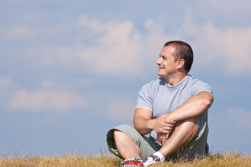Download Handsome man outdoor stock photo. Image of outside, grass - 15946318