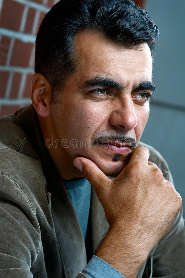 Handsome man portrait royalty free stock photography