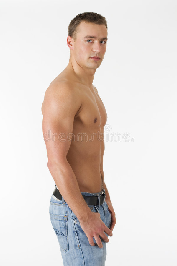 Handsome man posing stock image